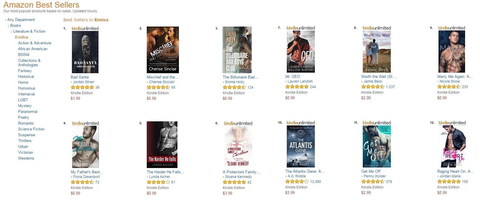amazon romance erotica best sellers